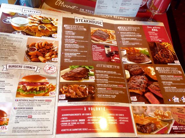 Buffalo grill メニュー1