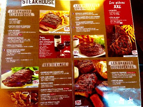 Buffalo grill メニュー3