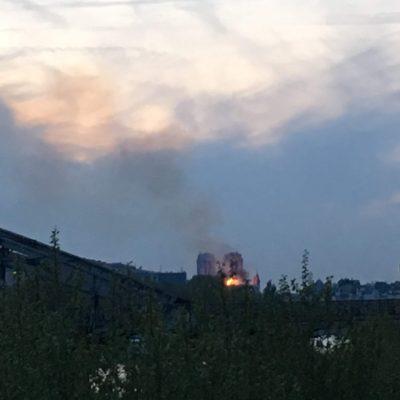 パリのノートルダム大聖堂で火災